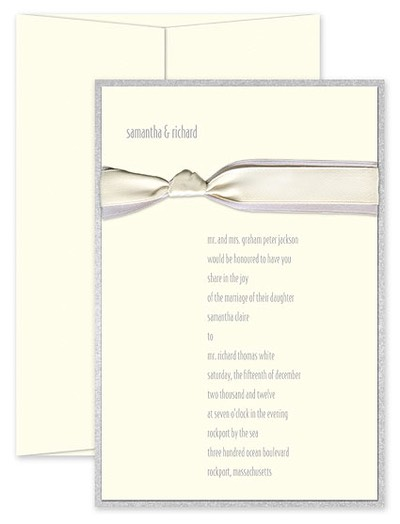 checkerboard wedding - grey ribbon